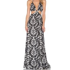 RAGA black and white maxi cut out dress